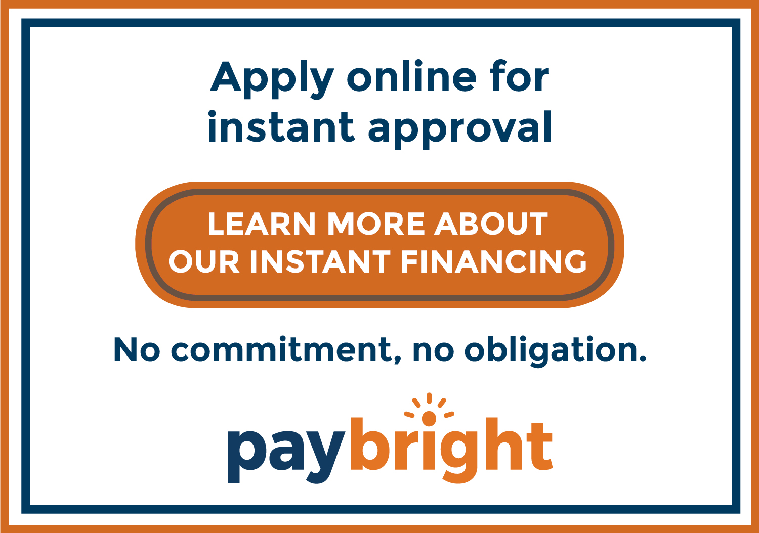 Paybright instant approval button